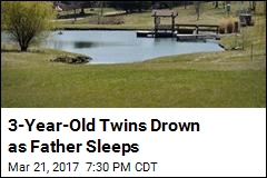 3-Year-Old Twins Wander Off, Drown in Pond