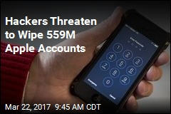 Hackers Threaten to Wipe 559M Apple Accounts