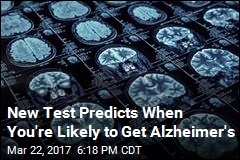 New Test Predicts When You're Likely to Get Alzheimer's