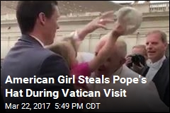 Pope Francis Shares Laugh With Hat-Snatching Toddler