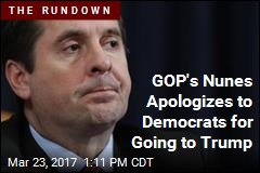 GOP's Nunes Apologizes to Democrats for Going to Trump