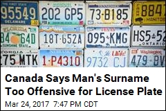 Canada Won't Let Mr. Grabher Get Personalized License Plate