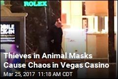 Suspects in Animal Masks Attempt Heist in Vegas Casino