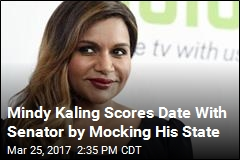 Mindy Kaling Scores Date With Senator by Mocking His State