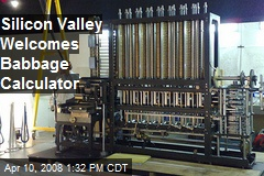 Silicon Valley Welcomes Babbage Calculator