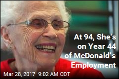 She's 94, Still Loves Working at McDonald's