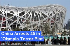 China Arrests 45 in 'Olympic Terror Plot'