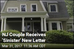 NJ Couple Receives 'Sinister' New Letter