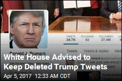 National Archives Wants Deleted Trump Tweets