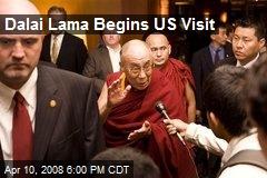 Dalai Lama Begins US Visit