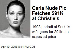 Carla Nude Pic Fetches $91K at Christie's
