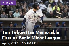 This Is Tim Tebow's First At-Bat in Minor League