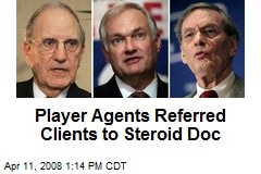 Player Agents Referred Clients to Steroid Doc