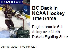 BC Back in NCAA Hockey Title Game