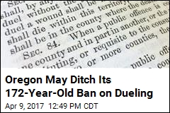 Oregon May Ditch Its 172-Year-Old Ban on Dueling