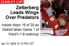 Zetterberg Leads Wings Over Predators