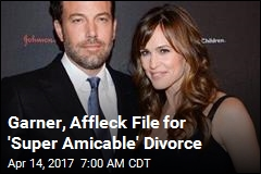 Garner, Affleck File for 'Super Amicable' Divorce