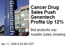 Cancer Drug Sales Push Genentech Profits Up 12%