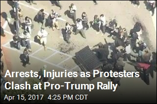 Multiple Arrests as Pro-Trump Rally in Calif. Turns Violent