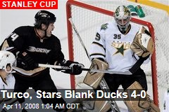 Turco, Stars Blank Ducks 4-0