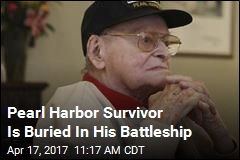 Pearl Harbor Survivor Is Buried In His Battleship