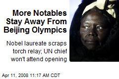 More Notables Stay Away From Beijing Olympics