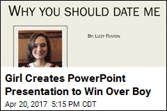 Girl Creates PowerPoint Presentation to Win Over Boy