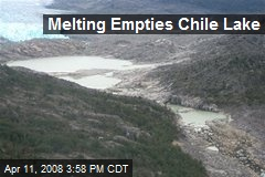 Melting Empties Chile Lake