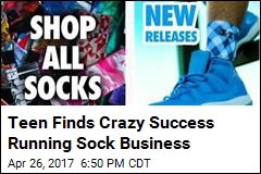 Teen's Sock Business Does $1M in Sales Per Year