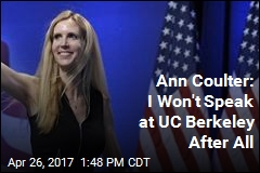 Ann Coulter Speech Is Off, Again, at UC Berkeley