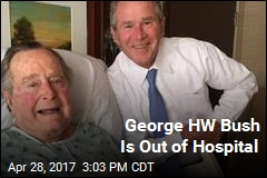 George HW Bush Released From Hospital