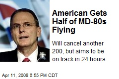 American Gets Half of MD-80s Flying