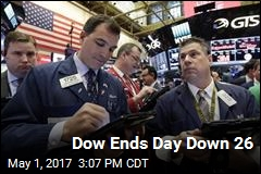 Dow Ends Day Down 26