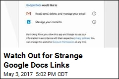 Watch Out for Strange Google Docs Links