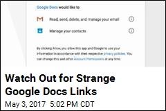 Watch Out for Strange Google Docs Links