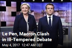 Le Pen, Macron Clash in Bad-Tempered Debate
