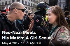 Girl Scout, Neo-Nazi Clash in Viral Photo