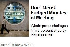 Doc: Merck Fudged Minutes of Meeting