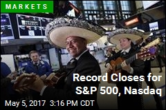 Record Closes for S&P 500, Nasdaq