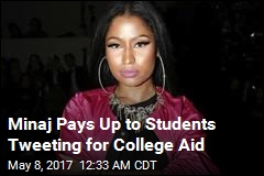 Nicki Minaj Dishes Out $20K to Student Fans on Twitter