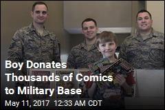Boy, 10, Donates 3K Comic Books to Military Base