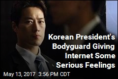 New South Korean President's Handsome Bodyguard Goes Viral