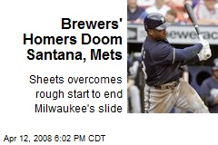 Brewers' Homers Doom Santana, Mets