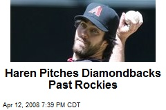 Haren Pitches Diamondbacks Past Rockies