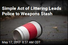 Simple Act of Littering Leads Police to Weapons Stash