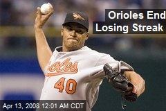 Orioles End Losing Streak