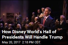Trump Likely Won't Get Speech in Disney Attraction: Source