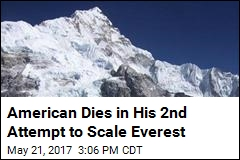American Dies in His 2nd Attempt to Scale Everest