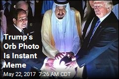 Trump's Orb Photo Is Instant Meme