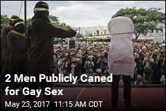 2 Men Publicly Caned for Gay Sex